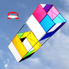 3D Box Kite Rainbow Color Chic with handle & line Simple Belle Family Sport