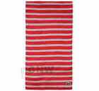 LACOSTE UNISEX STRIPE SCARF RE6255 SMALL CROC RED & GREY Was £70.00