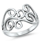 Women's Cutout Fashion Designer Ring New .925 Sterling Silver Band Sizes 4-13