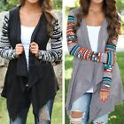 Women Lady Casual Bobo Triba Coat Waterfall Draped Cardigans Dress Thin Jacket