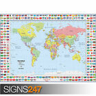 MAPS AND FLAGS (1037) Photo Picture Poster Print Art A0 A1 A2 A3 A4