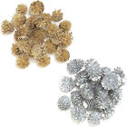 GOLD/SILVER PINE CONES DECORATIONS FOR CHRISTMAS WREATHS CRAFTS FLORIST