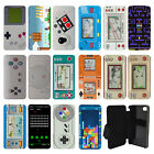 Vintage Retro Gaming Flip Wallet cover case for Apple iPhone No.18