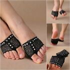 1 Pairs Dance Paws Cover Foot Forefoot Toe Undies Thong Half Lyrical Shoe Black