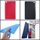 "Ultra Slim Silicone TPU Case Cover For 8"" Lenovo Tab 2 A8-50 Tab + Screen Film"