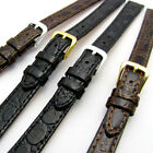 Ladies Replacement Watch Strap Band in Glossy Croc Grain Leather 12mm 14mm