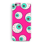 Case for iPhone 6 6S Eyes Googly Horror Scary Funny Bright Pink Protective Cover