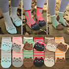N Pair Korean Women's Fun Hosiery Lady Girls Fashion Cartoon Cat New Short Socks