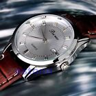 Classic Men's Analog Quartz Auto Date Display Steel Leather Wrist Watch