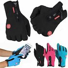 Men Women Motorcycle Driving Cycling Gloves Winter Warm Touch Gloves Windproof