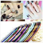 30X Mixed Colors Rolls Striping Tape Line Nail Art Tips Decoration Sticker DIY