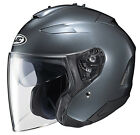 HJC IS-33 II Glossy Anthracite Open Face Motorcycle Helmet