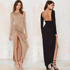 Fashion Womens Backless Bandage Bodycon Evening Sexy Party Cocktail long Dress