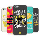 HEAD CASE DESIGNS LIFE AND LEMONS SOFT GEL CASE FOR APPLE iPHONE PHONES