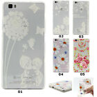 Dandelion Flowers Patterned Soft Gel TPU Back Case Cover For Various Cellphones