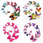 12x 3d Butterfly Wall Decals Removable Sticker Magnets Art Kids Home Decorations