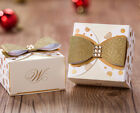 Gold western style wedding favor candy boxes CB5028
