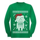 Cute Robot Santa Ugly Christmas Sweater - Xmas Funny Long sleeve kids T-Shirt