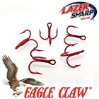 Eagle Claw Treble Hooks  954 Red, Sizes 4-10  Tube Fly  Spinner Lures,Flying Cs.