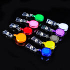 9 Colors ID Badges Card Holder Office Retractable Reel Key Tag Belt Clip Holders