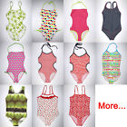 Teens Girl One Piece Swimsuit Swim Tank Bathing Suit Beach Wear Junior Swimwear