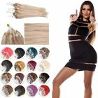 "100S Micro Loop Ring Beads Tipped 100% Remy Human Hair Extensions 15""-32"" 50g"