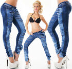 Sexy New Women's Skinny Blue Jeans Trousers Destroyed Ripped Look J 564