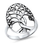 Tree of Life Branches Fashion Ring New .925 Sterling Silver Band Sizes 3-14