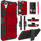 For HTC Desire 626 626s Shockproof Hybrid Kickstand Clip Hard Phone Case Cover