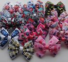 Childrens Character Large 10cm Triple Bow Hair Clip Disney, Barbie, Star wars T9