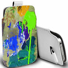 pu leather pull tab pouch case for various Mobile multi colour paintboard pouch