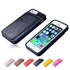 Fashion Flip Wallet Sythetic PU Leather Cases Covers For Apple iPhone 4 Colors