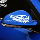White Black Angel wings Rearview Mirror Vehicle Random body car stickers Decals