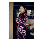 Winter Chinese Vintage 9 Point Long Sleeve Cheongsam Linen Quilted Dress BSFH