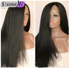 Remeehi soft kinky yaki 100% Brizilian remy human hair full/front lace wig