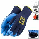 Blue Insulated Winter Rubber-Coated Gloves, Crinkle Finished -BGWLAC-BLU