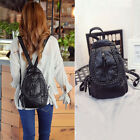 Faux Leather Convertible Small Mini Backpack Rucksack Check Pack Sling Bag Purse