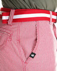 NWT Miskeen Pin Striped Chino Shorts w/belt Size 36