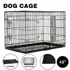 Dog Pet Samll Large Cage Collapsible Metal Crate Kennel Outdoor House Playpen