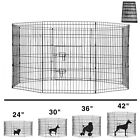 8 Panel Pet Playpen Dog Cage Kennel Crate Metal Enclosure Fence Indoor Outdoor