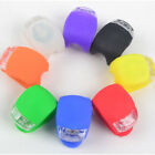 Safety Silicone Bike Bicycle Cycling Head Front Rear Wheel LED Flash Light Lamp