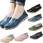 Bright Cosy Women Leather Casual Walking Bowed Flat Shoes Loafers Moccasin Slide