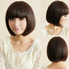 New Sexy Women's Short Straight Full Wig Hair Bob Style Neat Bang Cute Wigs