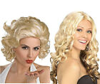 Women Ladies Long Crimped Wavy Full Wigs Hair Cosplay Costume Party Wigs Blonde