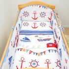 All Round Cot, Cot bed Bumper 4 Sided Pads with Pattern or Plain