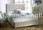 CHEAP BED FRAME DOUBLE KING SIZE VELVET BEDS  NEW AND CHEAP