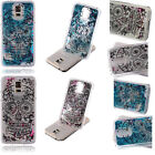 Unique Skull 3D Patterned Dynamic Liquid Quicksand Hard Case Cover For Samsung