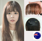 NEW Lady Party Natural Clip on Bang Front Fringe only Hair extension Wigs Piece