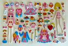 3D Crystal Girl Change Clothes Dress Up Headdress Bow Handbag Party Sticker 007