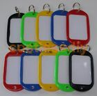 Key Ring Plastic Name Tags Extra Large Luggage Labels 5 & 10 Pack Mixed Colours